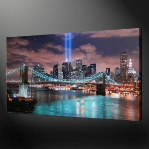 CITYSCAPE TWIN TOWERS CANVAS PRINT