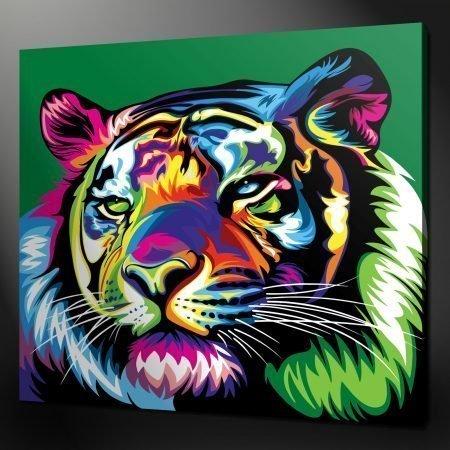Tiger pop art canvas print