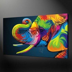 Pop art elephant canvas print art