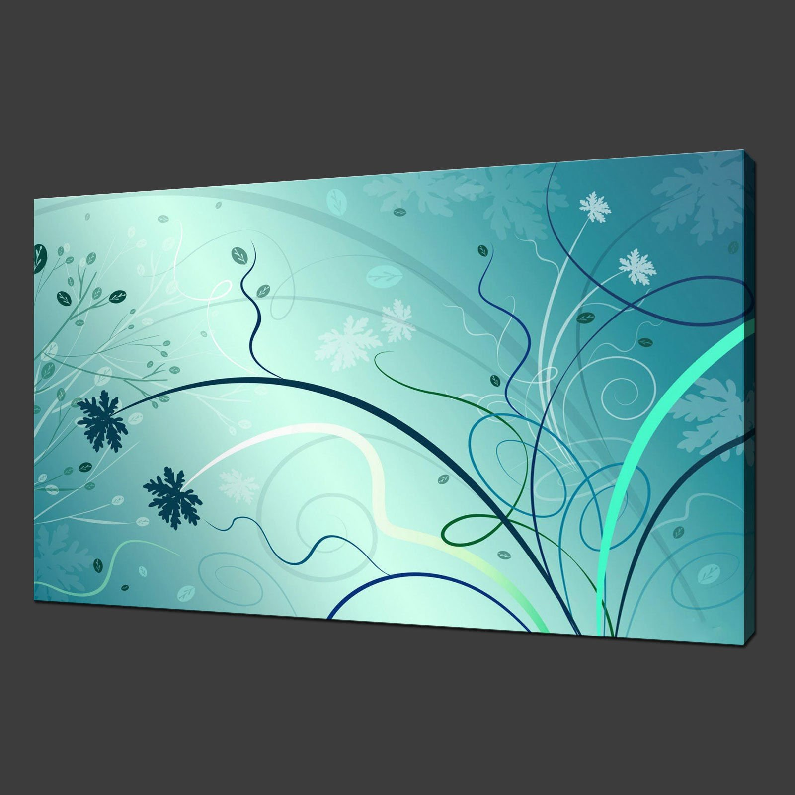 abstract floral canvas wall art pictures prints 20 x 16. Black Bedroom Furniture Sets. Home Design Ideas