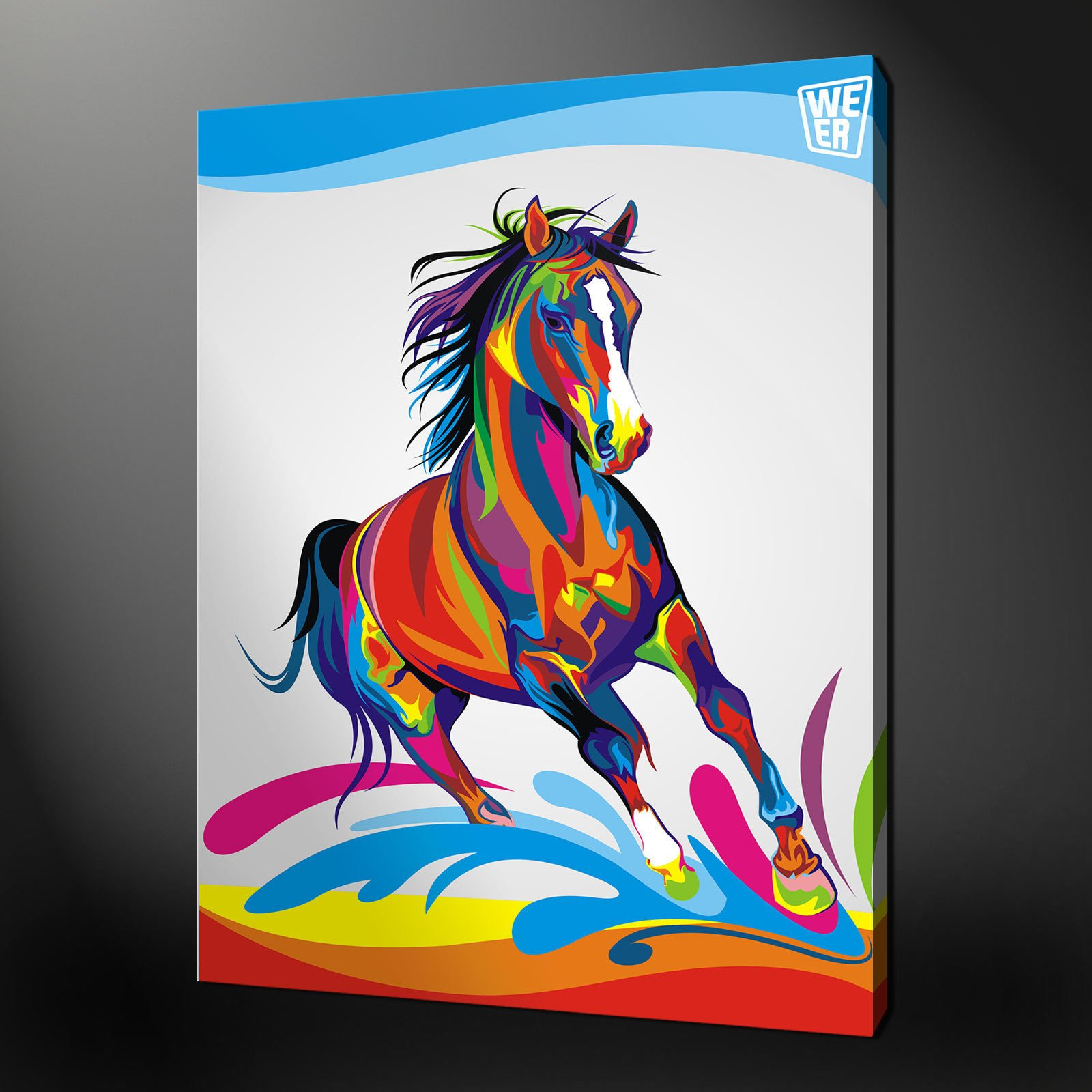 ABSTRACT HORSE QUALITY CANVAS PRINT PICTURE WALL ART