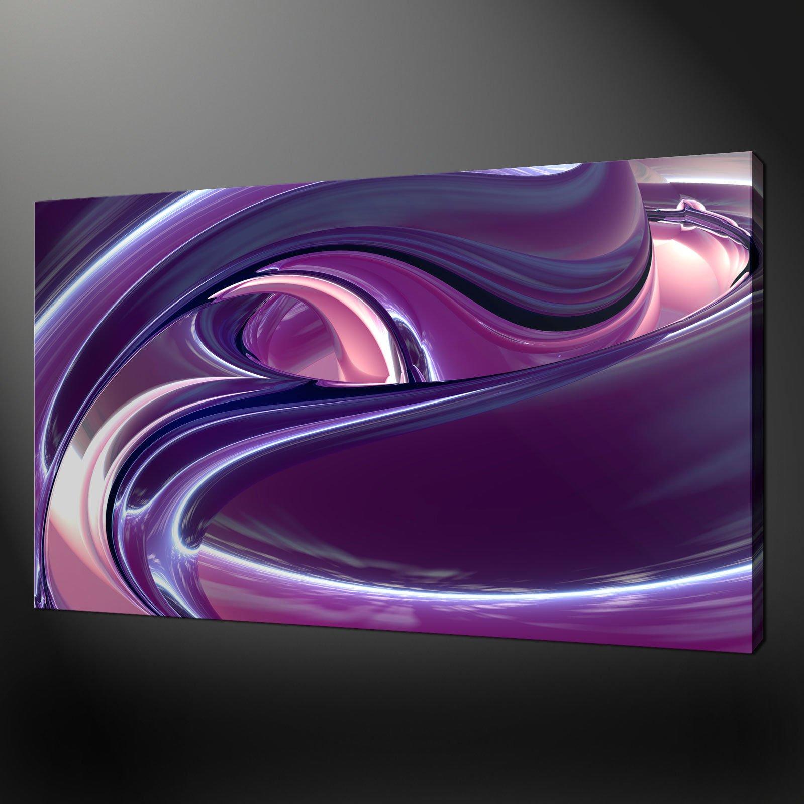 Pink Abstract Canvas Art Pink Waves Canvas Wall Art