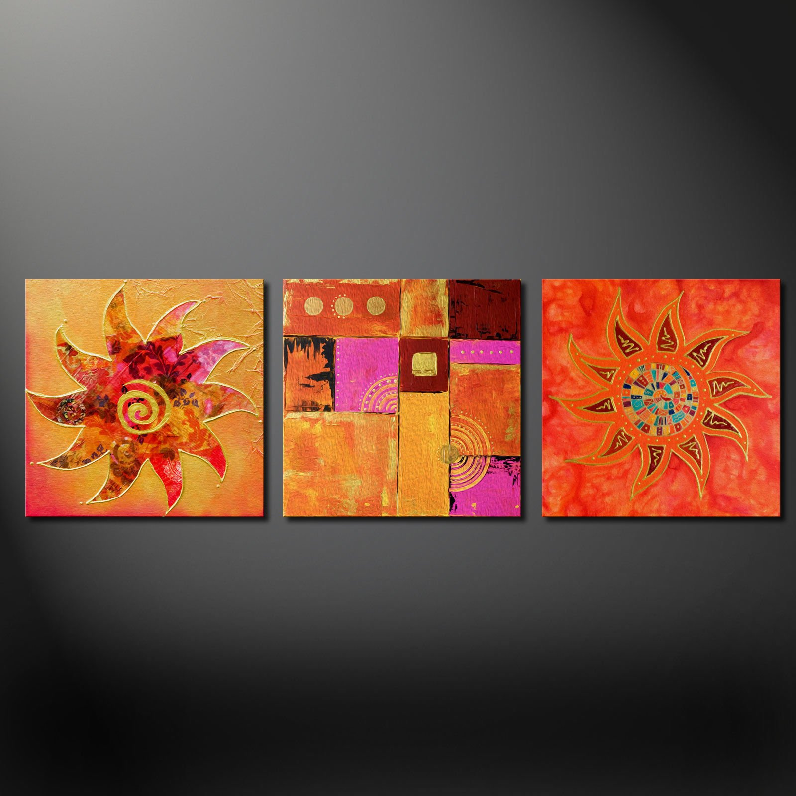3 Panel Canvas Wall Art Uk - forest canvas   ebay with