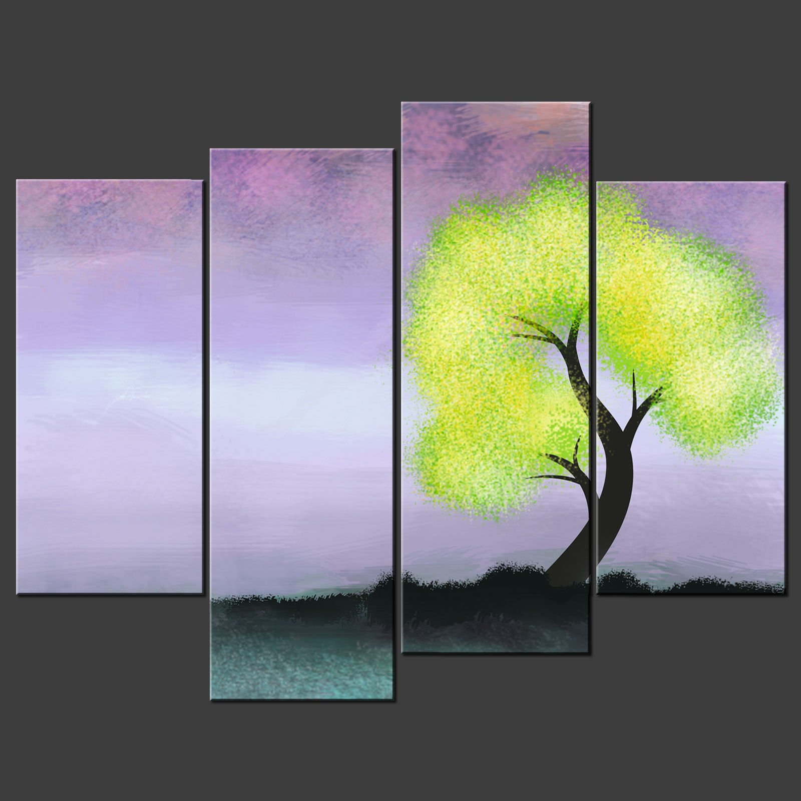 Abstract tree modern split canvas wall art picture prints for Wall art prints