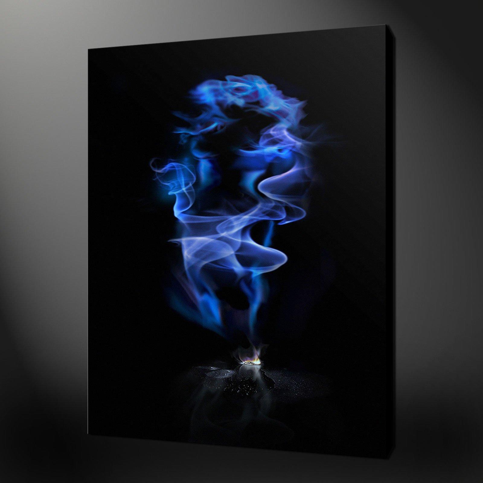 Smoke Blue Wall Decor : Black archives canvas print art