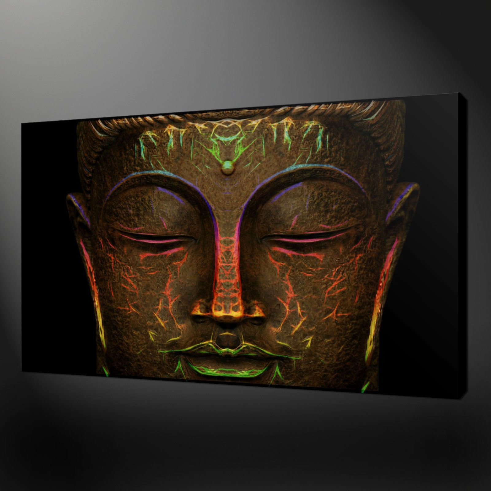 Bronze buddha quality canvas print picture wall art for Buddha wall art