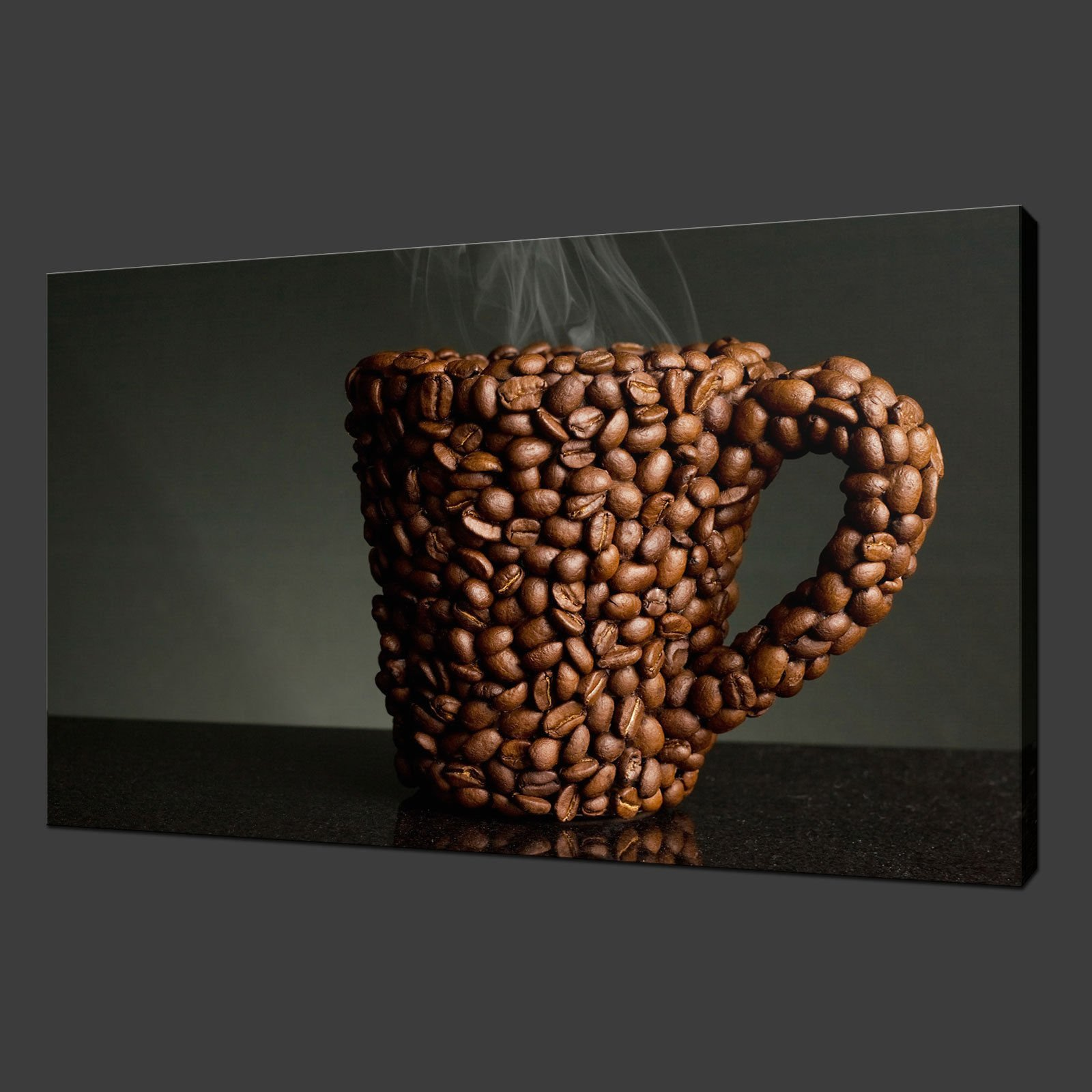 Coffee Mag Kitchen Canvas Wall Art Pictures Prints 30 X 20