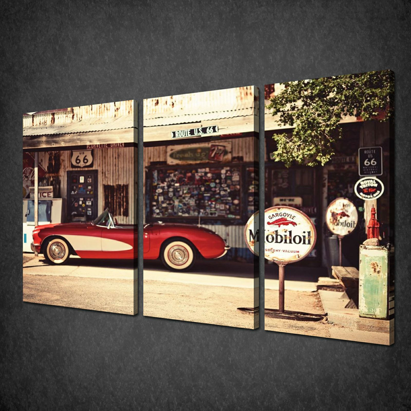 Canvas print pictures high quality handmade free next for Antique car decor